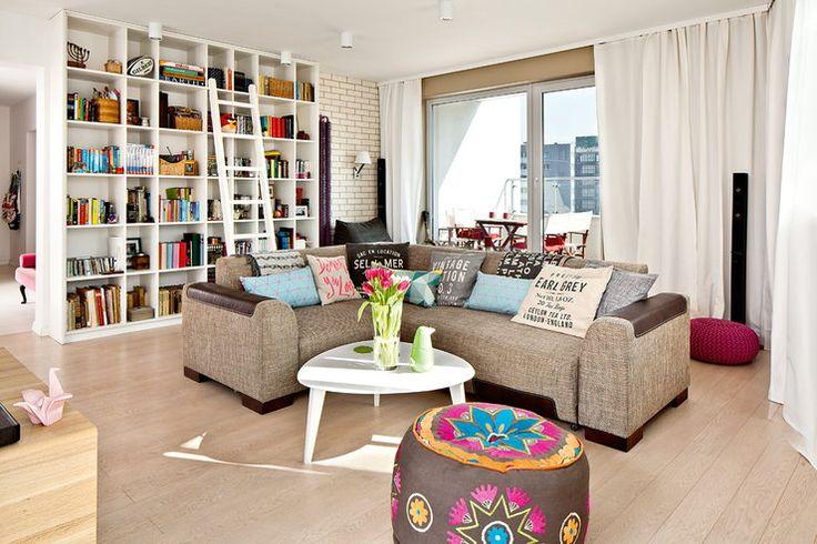 Pierwsze mieszkanie Oli i Bartka - styl nowoczesny z elementami vintage - Dom