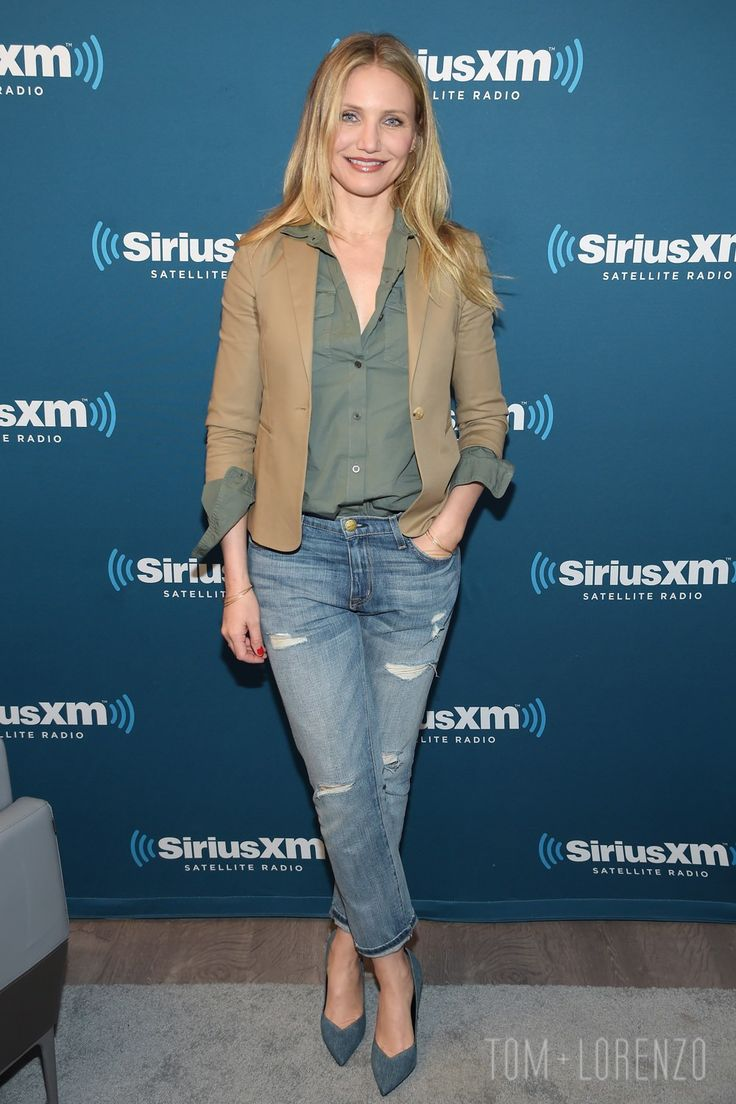 Cameron Diaz at the SiriusXM Twon Hall Event