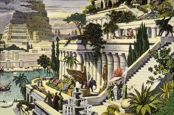 According to legend, 6th-century Babylonian King Nebuchadnezzar had a colossal maze of waterfalls and dense vegetation planted across his palace for a wife, who missed her lush homeland. Archaeologists still debate the garden's existence.