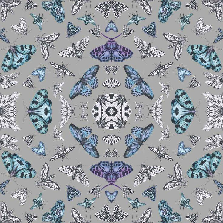 Arthouse Glitter Bug Silver Wallpaper in 2020 Silver