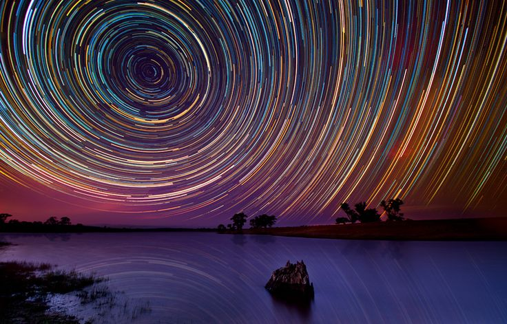 Star trails by Lincoln Harrison.