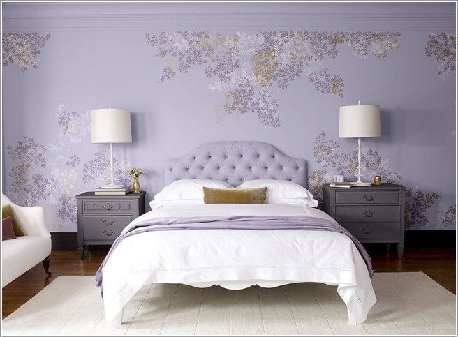 Benjamin Moore This Room Is Having A Luscious Look Its Wall Is Done In Lavender Shade With A