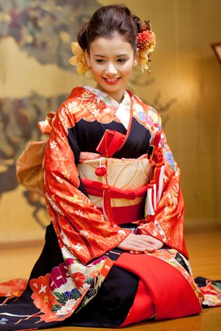 Updos for Beautiful Japanese Kimono ღ. This is for wedding.