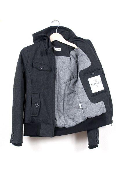 bliss blog - i heart monday:: Librarian Charcoal jacket from Bridge & Burn