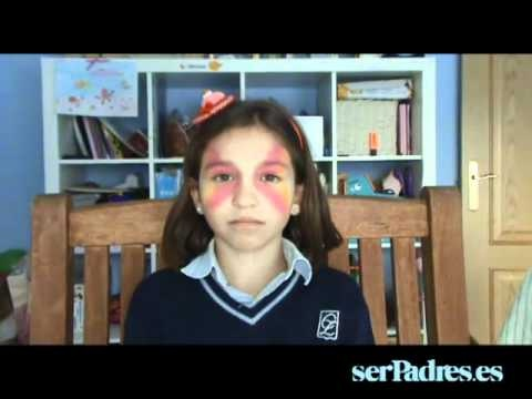 Maquillaje de mariposa para niñas