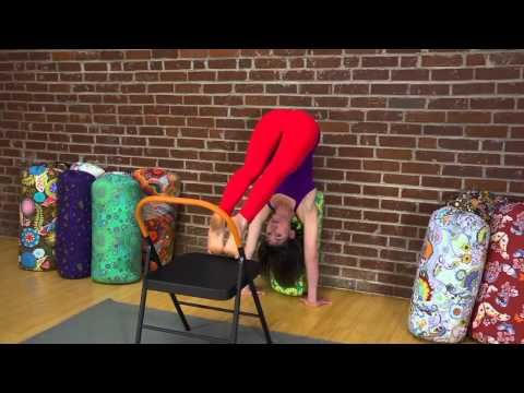 yoga for beginners how to do a handstand using a bolster