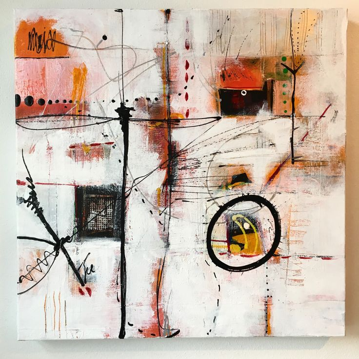 Abstract Painting Mixed media on canvas by Pauline Lindberg
