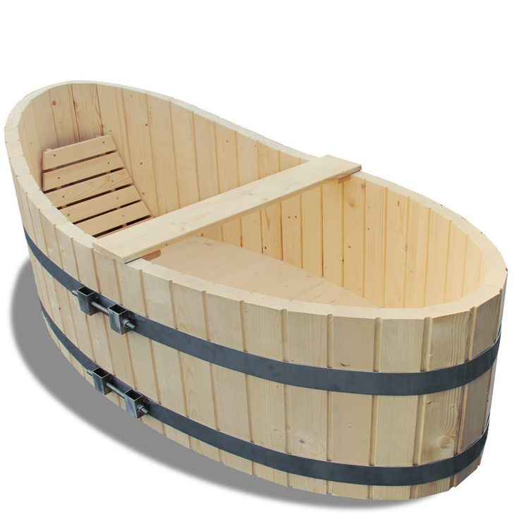 Wooden Bathtub with Outlet Tap 178 x 87 cm: Amazon.co.uk: DIY & Tools