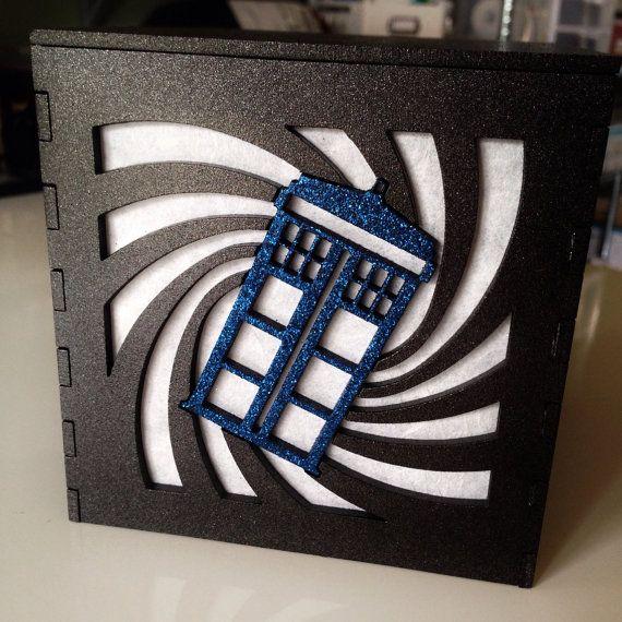 Doctor Who T.A.R.D.I.S. swirl light box 4.5 by BurntPixels, $30.00