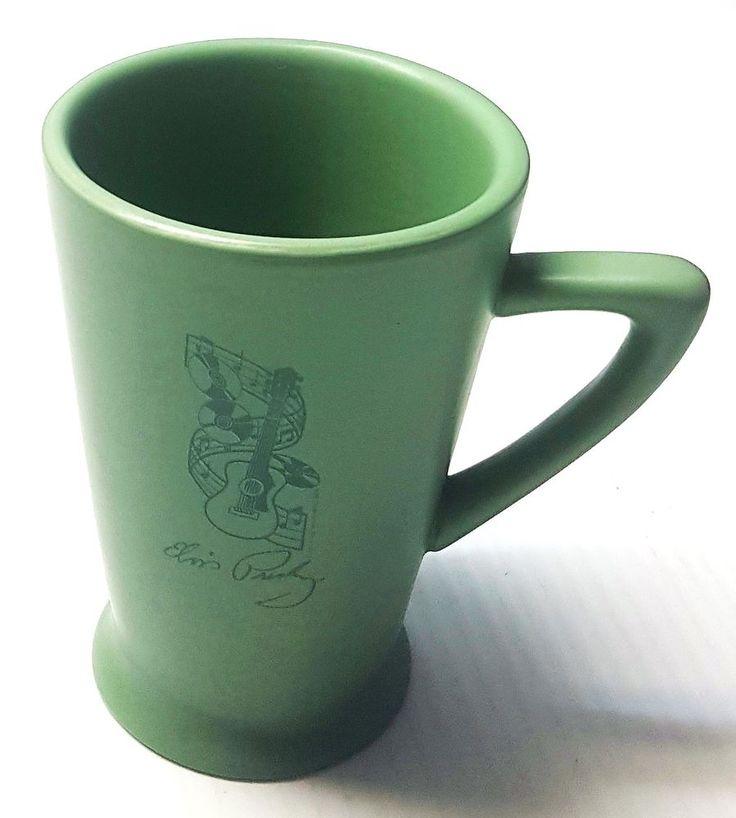 "Elvis Presley Green Guitar Coffee Mug Cup Music Records 4 3/4"" Rock & Roll | eBay"