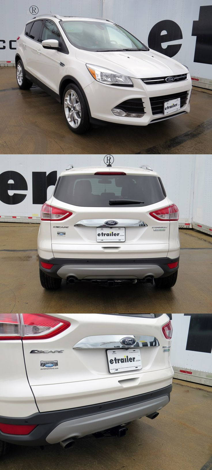 This ford escape 2015 features a hidden hitch trailer hitch one of the top accessories