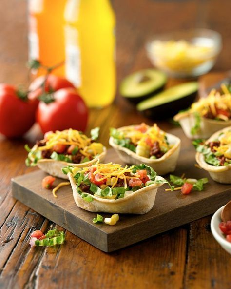 Lighten up Taco Tuesday and serve mini boats brimming with classic taco salad ingredients! Kids will love how easy they are to hold and eat, and adults will appreciate they can have a few, sans guilt. Not a fan of ground beef? Substitute ground chicken or turkey in its place!