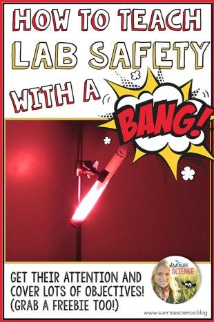 This demonstration lesson covers so much important information about lab safety and grabs students' attention so that they remember it!