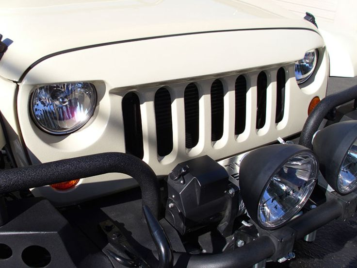 Jeep® Exterior - Wild Boar - WB 11019 - Wild Boar Front Grill, Gel Coated Fiberglass, Primed for Paint, for 07-up Jeep® Wrangler JK and other Jeep Wrangler Parts, Jeep Accessories and Soft Tops by FORTEC
