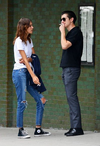 Alexa Chung and Alex Turner in New York. Awks? No. Stylish? Definitely