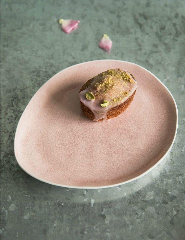 Amelie Glazed Pink Side Plate at Rose & Grey