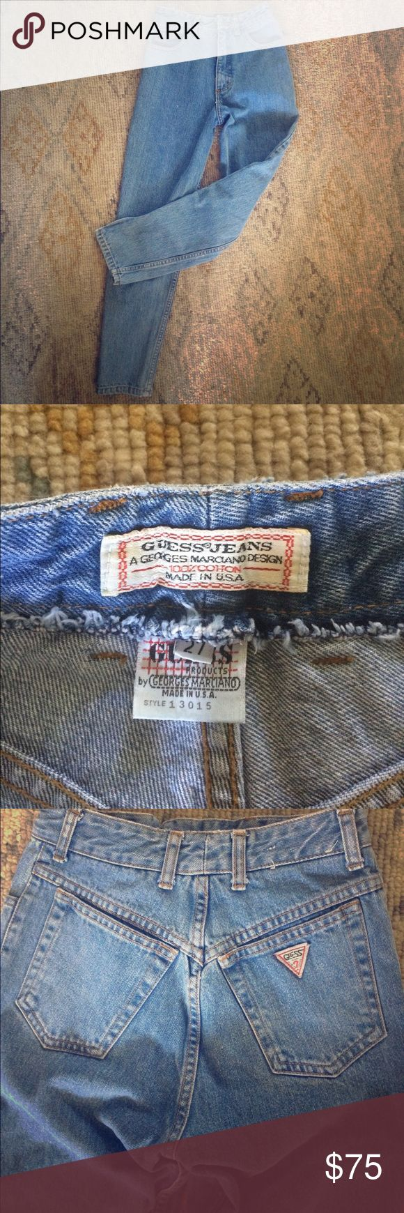 "Vintage Guess Jeans Circa 1980's from my high school years, these vintage Guess made in USA jeans feature a front zip closure and bottom ankle zippers. In like new condition. These are an original classic you would find at UO for over $100 mid rise to ""mom jean"" fit. Guess by Marciano Jeans Straight Leg"