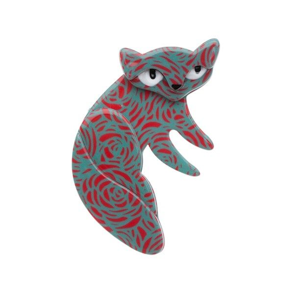 Lena the Lazy Cat Red Resin Brooch by Erstwilder. http://aslanandleo.com/product/Lena-the-Lazy-Cat-Red-Resin-Brooch-by-Erstwilder