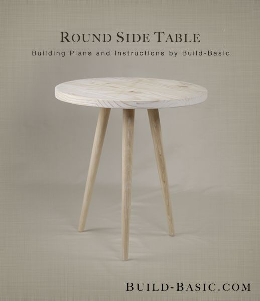 How To Build A Round Side Table - WoodWorking Projects & Plans