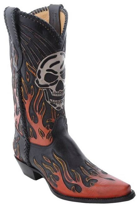Cowboy Boots With Skulls For Men Mens Corral Tooled
