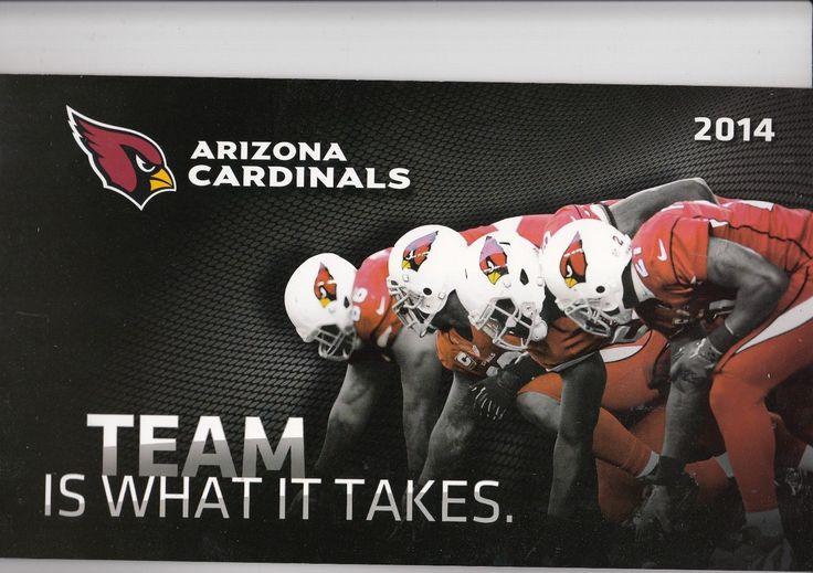 2014 ARIZONA CARDINALS SEASON TICKET BOOK STRIP STUB SET NFL FOOTBALL | eBay