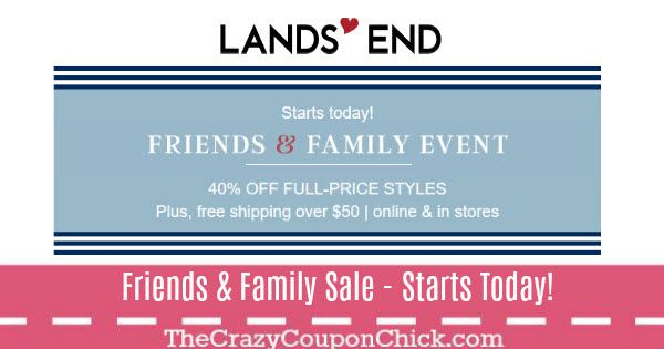 Lands' End: Friends & Family Event - 40% Off Full-Price Styles (thru 2/20)