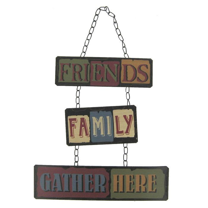 Wall Decor Gather : Friends family gather here metal wall decor chain