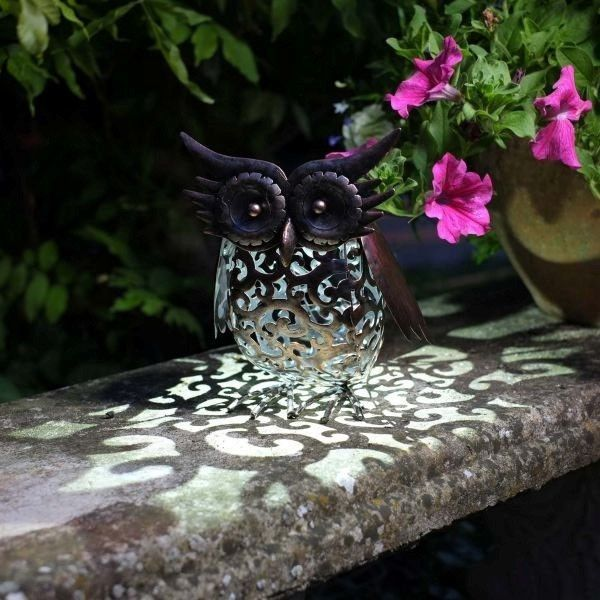 Charming Smart Garden Solar Owl Bird Silhouette Light Garden LED Light Figure  Ornament