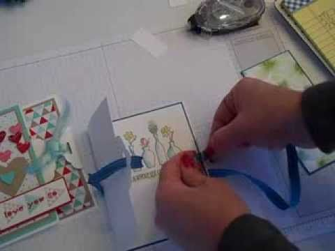 Scalloped Tag Topper Punch Card Base - YouTube