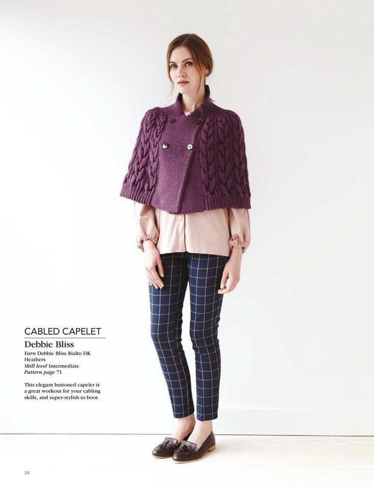 The 110 best Пончо аран images on Pinterest | Knitwear, Jackets and ...