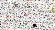 Facebook: en este dibujo hay un panda, ¿lo puedes ubicar?