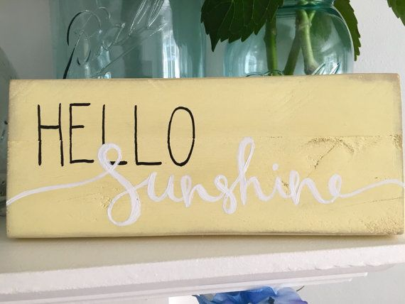 SPRING SALE! Rustic Home Decor, Hello Sunshine Sign ~ Reclaimed Wood Pallet…