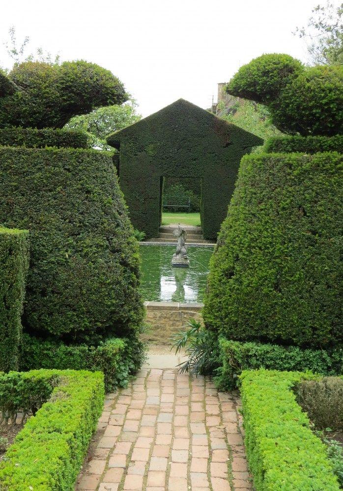 Hidcote gardens - The Bathing Pool Garden looking towards the Fuchsia Garden