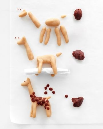 Marzipan Giraffe (Can be done with polymer)