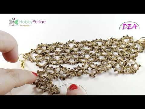 Bracciale Gold Gothic Style (parte 2) | TUTORIAL - HobbyPerline.com - YouTube