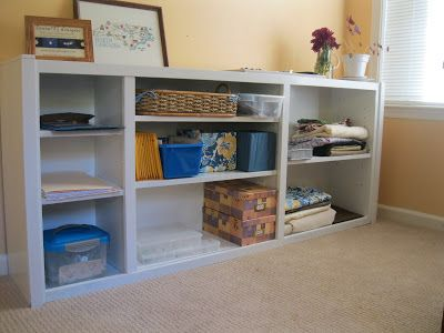 Book Shelf turned on it's side and re-purposed as a console:  a mom, with nails: Check it off: Bookcase redo