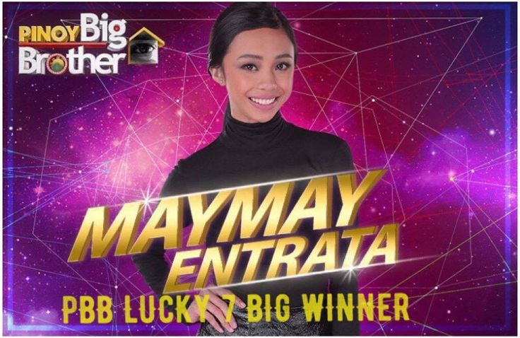 """Teen housemate Maymay Entrata, dubbed as the """"Miss Wacky-Go-Lucky of Cagayan de Oro,"""" was named the Big Winner of ABS-CBN's reality show """"Pinoy Big Brother: Lucky Season 7"""" on Sunday. The 19-year-old student at Mindanao University of Science and Technology (MUST) broke into tears after it was announced that she was the big winner after garnering the highest net text votes. See Also: PBB Lucky 7 The Big Winner, The Grand Finale Live Results Coming in second was 17-year-old """"Miracle Daughter""""…"""