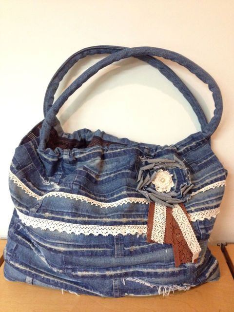 Remake of the denim bag | up-cycled jeans purses and bags ...