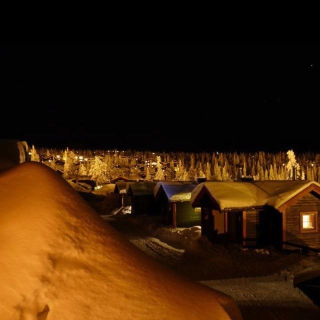 Night time on Trysil Mountain, Norway.