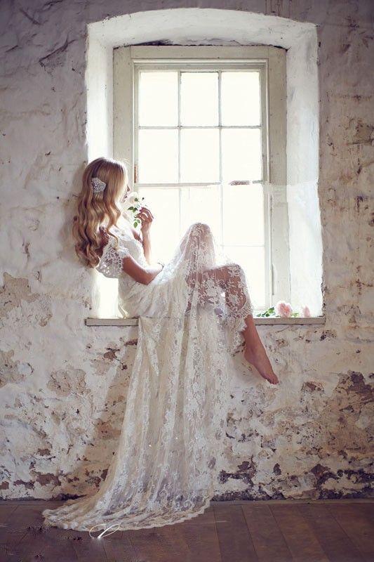 Vintage White Wedding Dresses 2016 Cap Sleeve Lace Wedding Dress V Back Wedding Dress Mermaid Weddin on Luulla #vintageweddingdresses