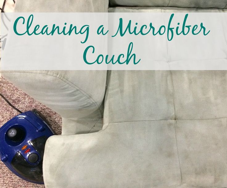 Don't throw out that stained microfiber couch; steam clean it!