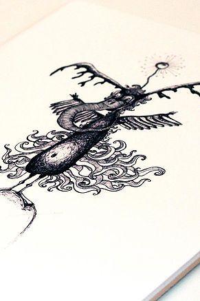 Kerafiikka | Opinio Creatura #creature #drawing #ceramics #print #decal #handmade #art #artwork