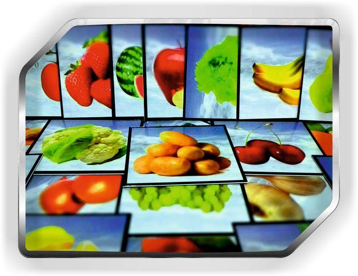 meyve sebze görsel kartları