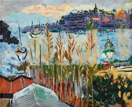 Bedri Rahmi Eyüboğlu Salı Pazarından 38.00 x 46.00 cm. 1948 Ahşap panel üzerine yağlıboya
