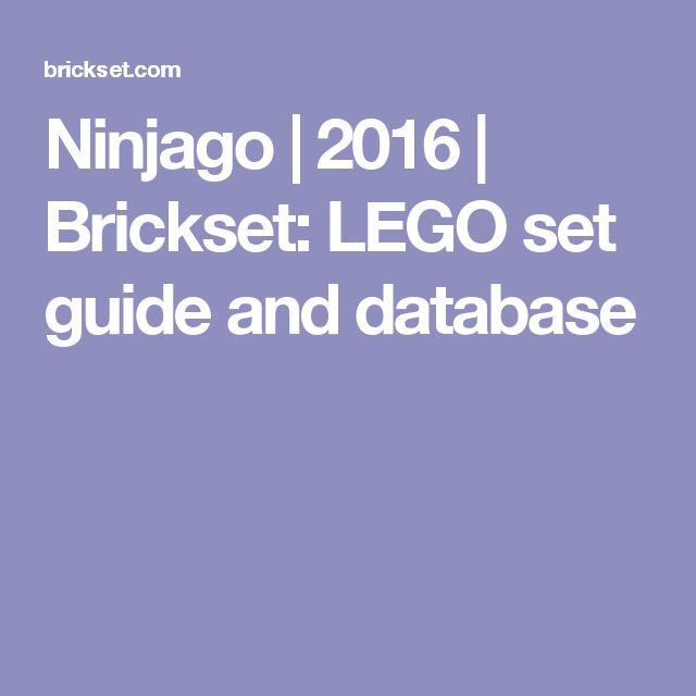 Ninjago | 2016 | Brickset: LEGO set guide and database