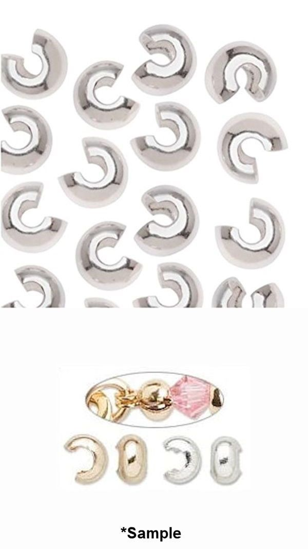 10 OR 100 Smooth 5mm Crimp Covers to Hide Knots //Silver,Gold,Copper OR Gunmetal