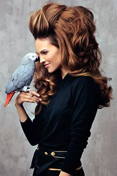 BIG hair!  Yes, I want more bigger hair!!!  The parrot can  come too!!