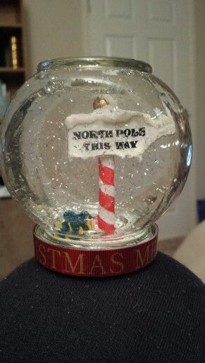 North pole snow globe. Check out Glitter Globes on Facebook.