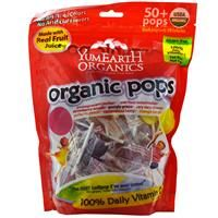 Yummy Earth, Organic Pops, Assorted Flavors, 50+ Pops, 12.3 oz (349 g) - iHerb.com