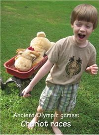 """From Montessori Tidbits - Kids haul their toys in """"chariots"""""""